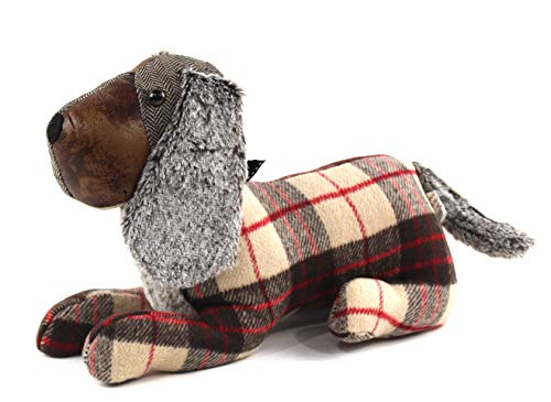 Decorative Door Stopper: Cute and Sophisticated Dog Mutli Textured Design (Dachshund) by Bright Ideas