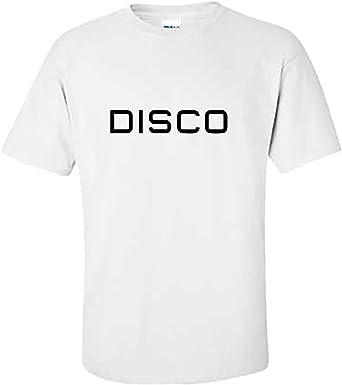 MiMiTee Discovery Disco Camiseta Hombre Verano Manga Corta Creativa impresión Letra algodón Gráficos Casual Tops Deporte al Aire Libre Playa Gimnasio: Amazon.es: Ropa y accesorios
