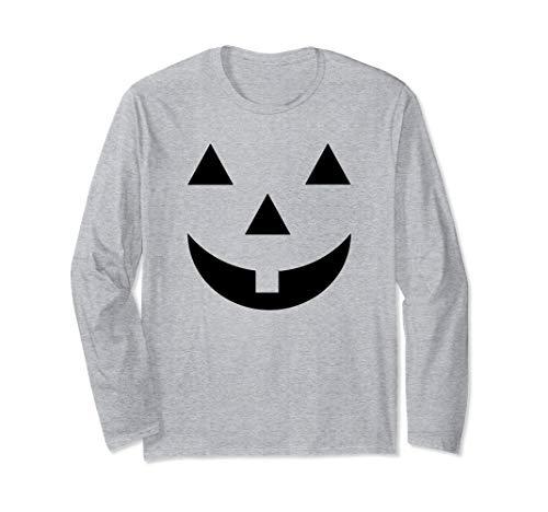 Smiley Face Pumpkin (Jack O Lantern Halloween Pumpkin Face Mask Smiley Long Sleeve)