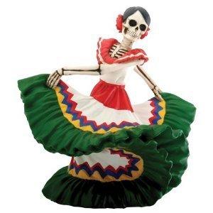 "Day of the Dead Dancing Senorita (H: 5.5"" x L: 6"" x W: 4.5"" & 2.25 lbs)"