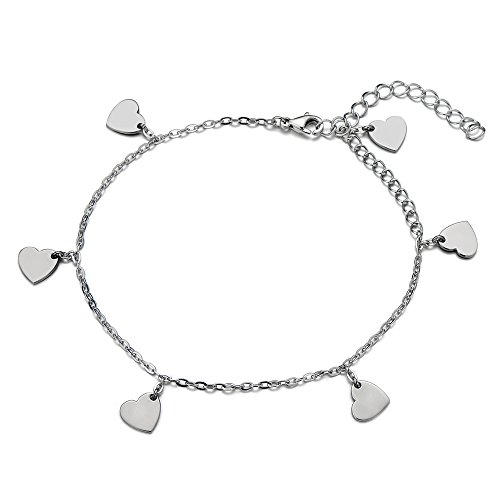 Stainless Anklet Bracelet Dangling Charms