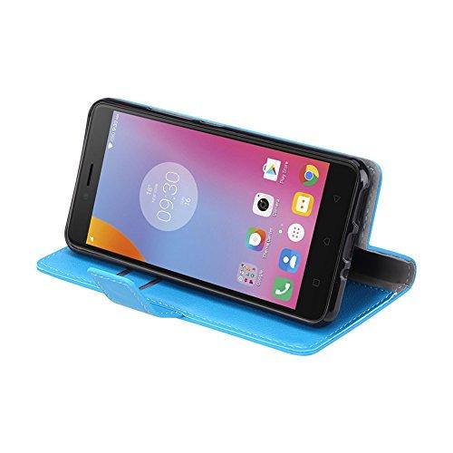 Funda para Huawei Y9 2018 / Enjoy 8 Plus,SunFay Premium Cuero PU Cover Magnético Flip Folio Ranura para Tarjetas Protective Billetera Funda Case con Stand Función para Huawei Y9 2018 / Enjoy 8 Plus -  Azul