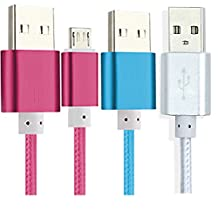 3Pack Micro USB Cable for all Amazon Kindle Fire HD,Kindle Paperwhite, Kindle Touch, Kindle Keyboard, Kindle DX 5ft 2.0 USB to Micro-USB Cable