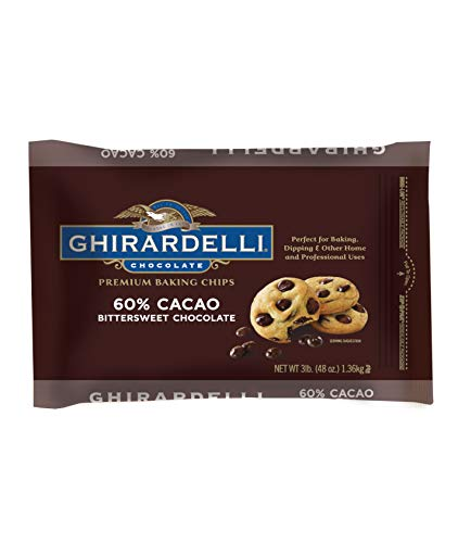 - Ghirardelli 60% Cacao Bittersweet Baking Chocolate Chips, 3 Pound