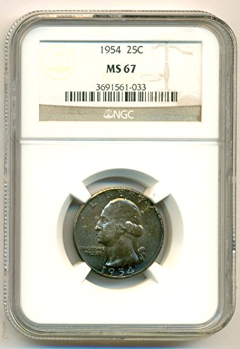1954 Washington Quarter MS67 NGC