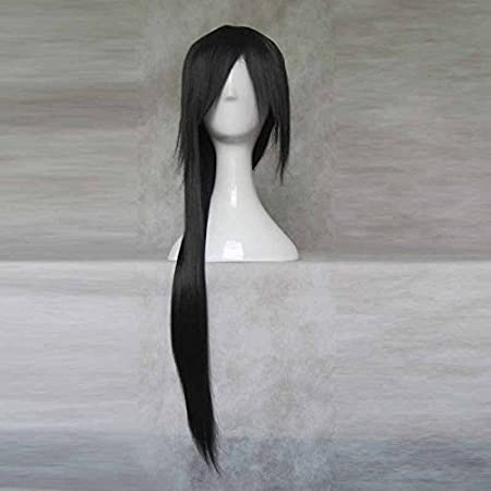 NARUTO Uchiha Itachi APH larga peluca negra de cola de ...
