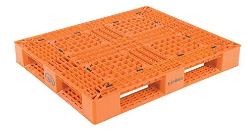 Vestil PLP2-4840-ORANGE Polyethylene Pallet with 4 Way Entry, 6600 lbs Capacity, 39.5