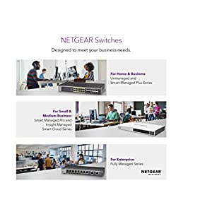 NETGEAR 5-Port Gigabit Ethernet Unmanaged PoE Switch (GS305P) - with 4 x PoE at 55W, Desktop, Sturdy Metal Fanless…