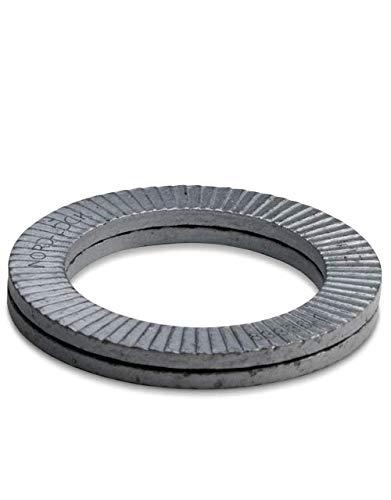 #8 Hard Lrg OD 20 glued Pairs//Pack Wedge Locking Washer Carbon STL Zinc Flake Coated THR M4