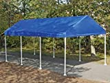 ShelterLogic 10X20 Canopy Replacement Cover for 1-3/8″ Frame (Blue), Outdoor Stuffs
