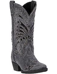 Laredo Womens Stevie Black Sequin Snip Toe Boot