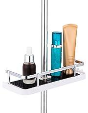 ASTOTSELL Badkamer doucheplank, hangend doucherek Geen boren nodig Douchestangplank met gesp en douchekophaak voor 18mm-25mm douchestang