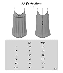 JJ Perfection Women\'s Pleated Chiffon Layered Cami Tank Top TAUPE M