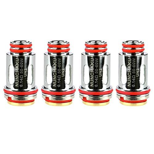 Uwell UN2 Meshed-H Coils (0,14 Ohm), Riccardo SS316L DL Verdampferköpfe für e-Zigarette, 4 Stück