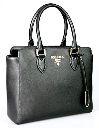 Prada Women's 1BA113 Black Saffiano Leather Shoulder Bag