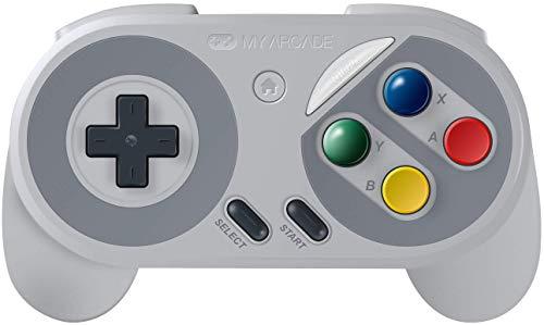 Wii Mini Wireless Controller - My Arcade Super Gamepad - Wireless Gaming Controller for Nintendo SNES Classic, NES Classic, Super Famicom, Wii, Wii U (Super Famicom Colors)