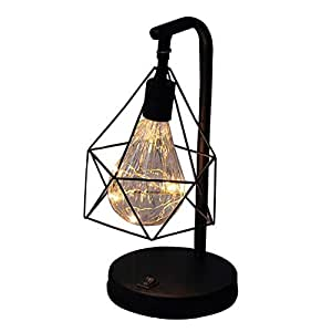 Amazon.com: Table Lamp, Retro Geometric Table Lamp ...