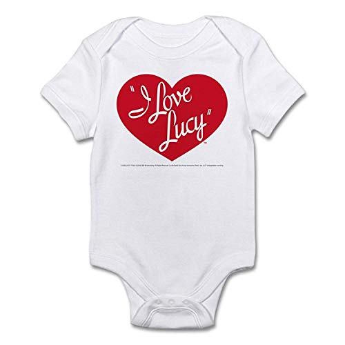 I Love Lucy: Logo Cute Baby Romper Outfits Short Sleeve -