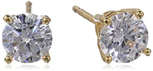 Sterling Silver Round Simulated Diamond Stud Earrings (1.62 cttw) from PAJ, Inc