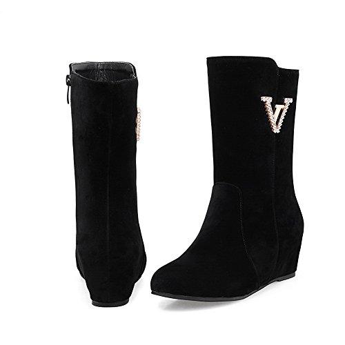 BalaMasa Womens Wedges Slip-Resistant Urethane Boots ABL09964 Black mBf8lRzN
