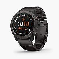 Garmin Fenix 6X Pro Solar Smartwatch with Vented Titanium Bracelet