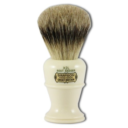 Simpsons Colonel X2L Best Badger Hair Shaving Brush With Imitation Ivory Handle