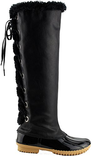 15 Insulated Size Boots Breeze High Nature Lace Black Half Small FF70 Women's Up Knee 0AvOq1