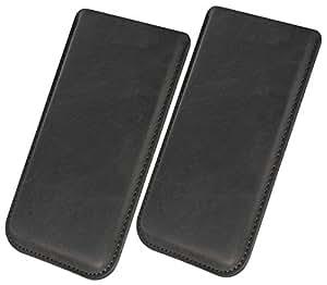 Funda para ZOPO ZP1000funda piel Carcasa Sleeve Funda Case Piel Smartphone Móvil Cover Funda Cartera Funda de piel en negro