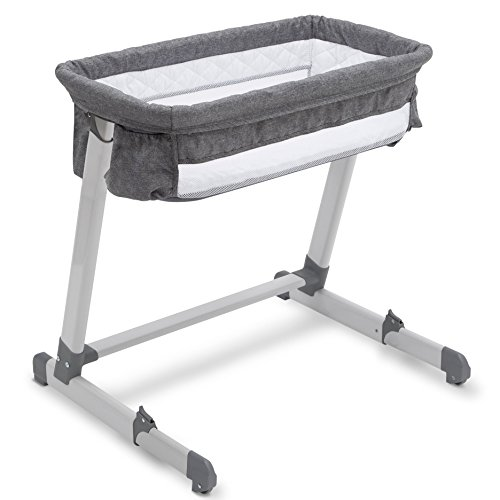 Buy Bargain Beautyrest Deluxe By the Bed Bassinet, Grey Tweed