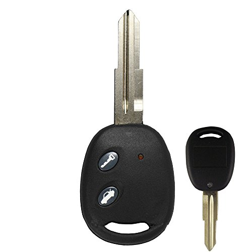 - KEMANI New Uncut Blade Keyless Remote Entry Fob Shell Car Key Case 2 Button For 2004-2010 Chevy Aveo Replacement