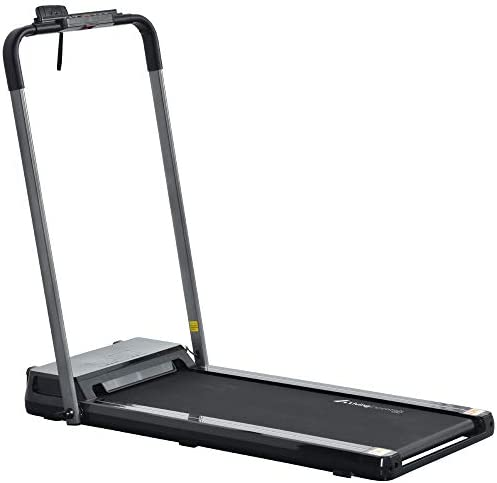 WILLY 2 in 1 Folding Treadmill for Home Portable Electric Treadmill Running Exercise Machine Compact Treadmill Foldable for Home Gym Fitness Workout Jogging Walking, No Installation Required