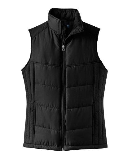 Port Authority L709 Ladies Puffy Vest - Black/Black - XXXX-L