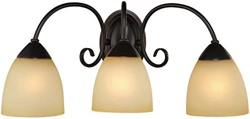 Hardware House Berkshire Series 3 Light Oil Rubbed Bronze 20-1 4 Inch by 8-3 4 Inch Bath Wall Lighting Fixture 16-8397