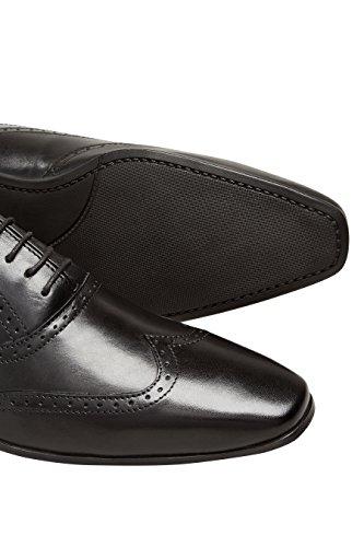 next Hombre Zapatos brogue Oxford puntera alada Corte Regular Negro