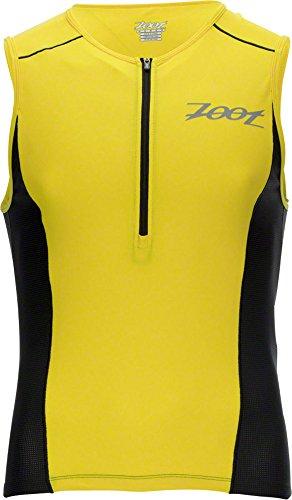 ZOOT Men's Active Tri Mesh Tank Top, Purple Yellow/Black, - Men Triathlon Top