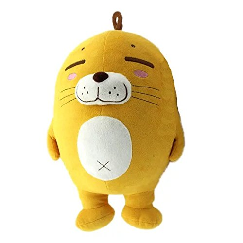 [COFFLED 12 Inch Cartoon Yellow Seal Animal Plush Toy; Softest Cuddly Plush Dolls for Baby Infant Bedtime and Nursery Stand Toy Decoration; Cutest Plush Xmas New Year and Wedding] (Diy Star Wars Dog Costumes)