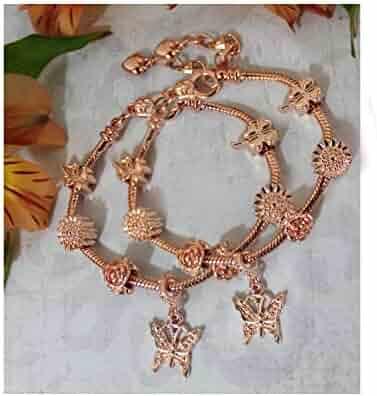 Red Coral Gemstone Silver Womens Bracelet Silver Flower Charm Braided Birthstone Bracelet Mother Daughter Flower Jewelry