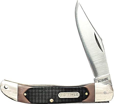 Schrade SCH123OT Cuchillo tascabile,Unisex - Adulto, Marrón ...
