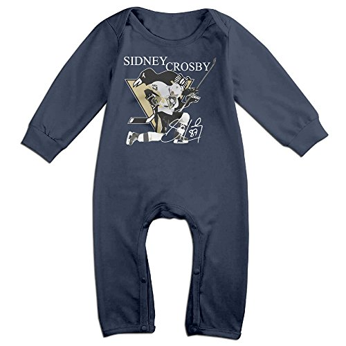 HOHOE Babys Pittsburgh 87# Player Long Sleeve Bodysuit Baby Onesie 18 M (San Jose Costume)