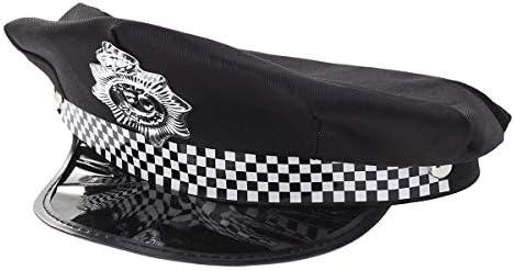 Amosfun Sombrero de Policía Disfraz Juego de Roles para Niños Adultos (Negro): Amazon.es: Hogar