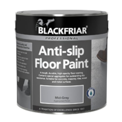 Blackfriar Anti Slip Floor Paint Mid Grey Indoor or Outdoor 5 Litres Semi Gloss BF2040002A1