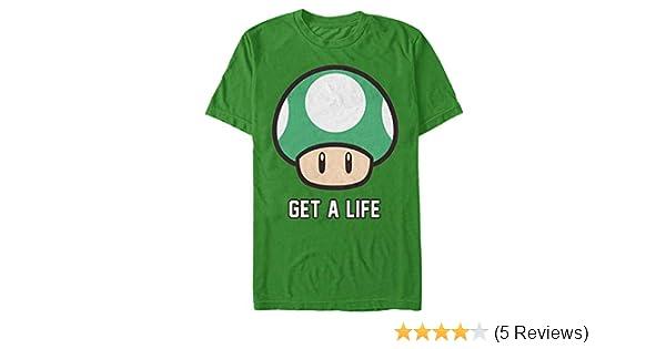 a78174b5 Nintendo Men's Mario Get a Life T-Shirt   Amazon.com