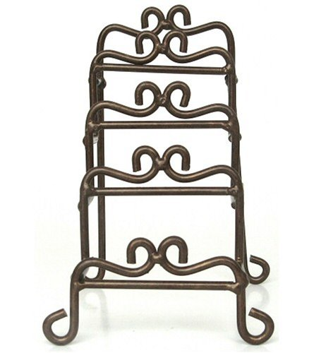 Manual Woodworkers and Weavers Metal Vertical Plate Racks, Mini, Rust Colored, Set of 2