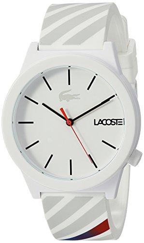 Lacoste Men's 'Motion' Quartz Plastic and Rubber Casual Watch, Color:White (Model: 2010935)