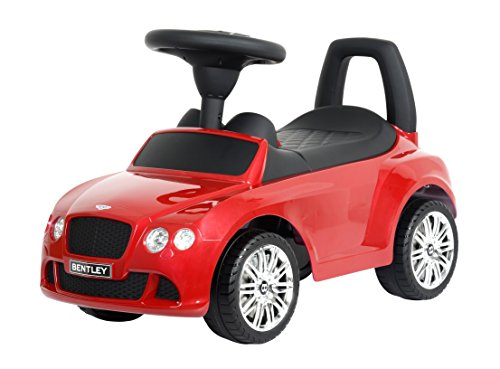 KIDS PREFERRED Licensed to Ride-On Bentley Continental GT Speed - Riding Toy for Toddlers with Sounds - Red