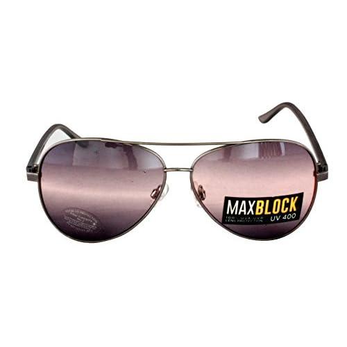 734397f463 Foster Grant FG19 unisex estilo aviador gafas de sol marco de plata y gris  plástico armas
