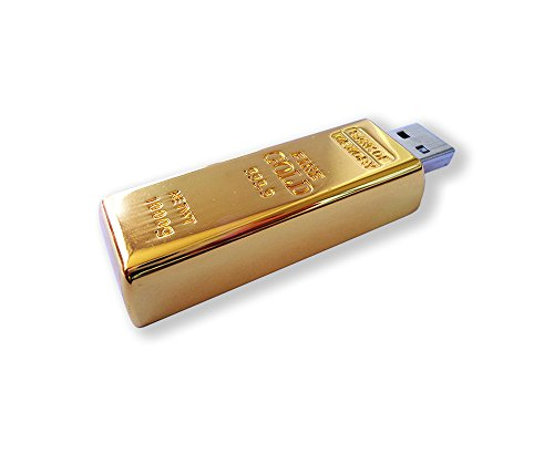Luxury Gift USB 2.0 Gold Bar USB Flash Drive 16 GB from Unknown