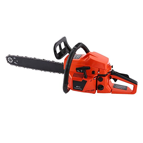 Cosway 62CC 4 HP Gas Powered Chain Saw with 2 Strokes Single Cylinder Gasoline Engine (20-Inch) by cosway