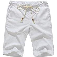 Boisouey Men's Linen Casual Classic Fit Short