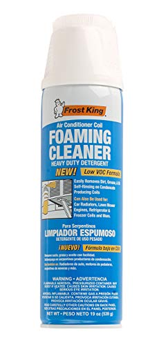 - Frost King ACF19 Air Conditioner Coil Foam Cleaner, Cleans Evaporator and Condenser Coils, Fan Blades, and Reusable Air Filters